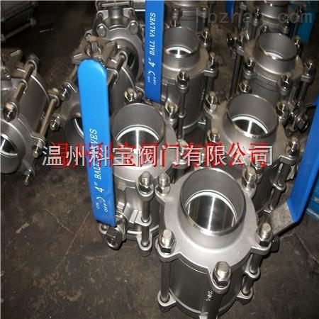 三片式3PC-Q61F-16P/R 承插焊接球阀