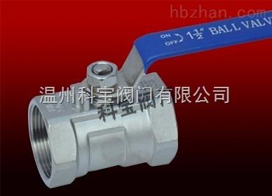 Q11F-16R 3/4寸 316耐酸碱手动一片式丝扣BSPT球阀