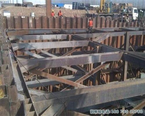 武汉拉森钢板桩施工,钢板桩围堰施工