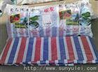 大连彩条布生产厂家批发防雨布质量加厚聚乙烯彩条布