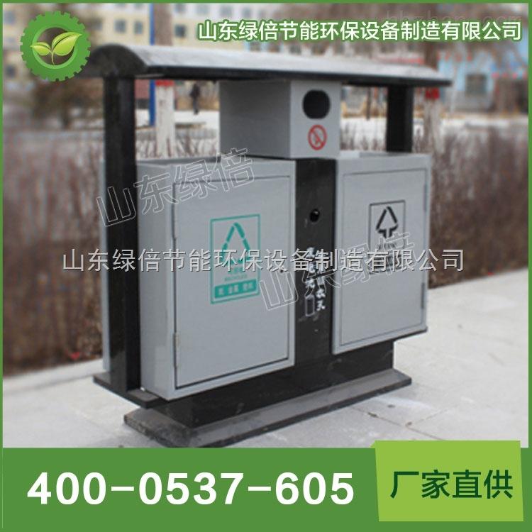 环保绿色分类钢制户外垃圾桶,环卫清洁机械