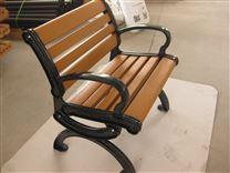 现货供应户外公园椅子 铸铁防腐木塑木室外实木长椅休闲椅