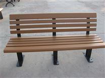 公园椅休闲阳台防腐木椅实木双人座椅靠背长椅铁艺小区长椅