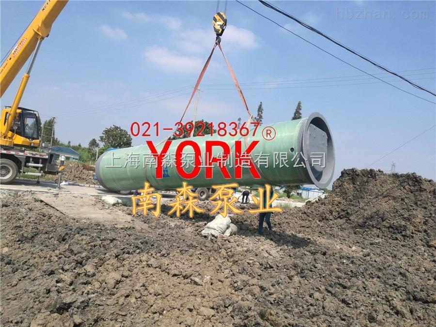 预制泵站玻璃钢上海一体化污水泵站