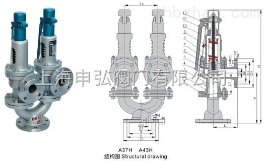 蒸汽双联弹簧式安全阀