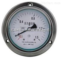 不锈钢耐震轴向带边压力真空表型号规格