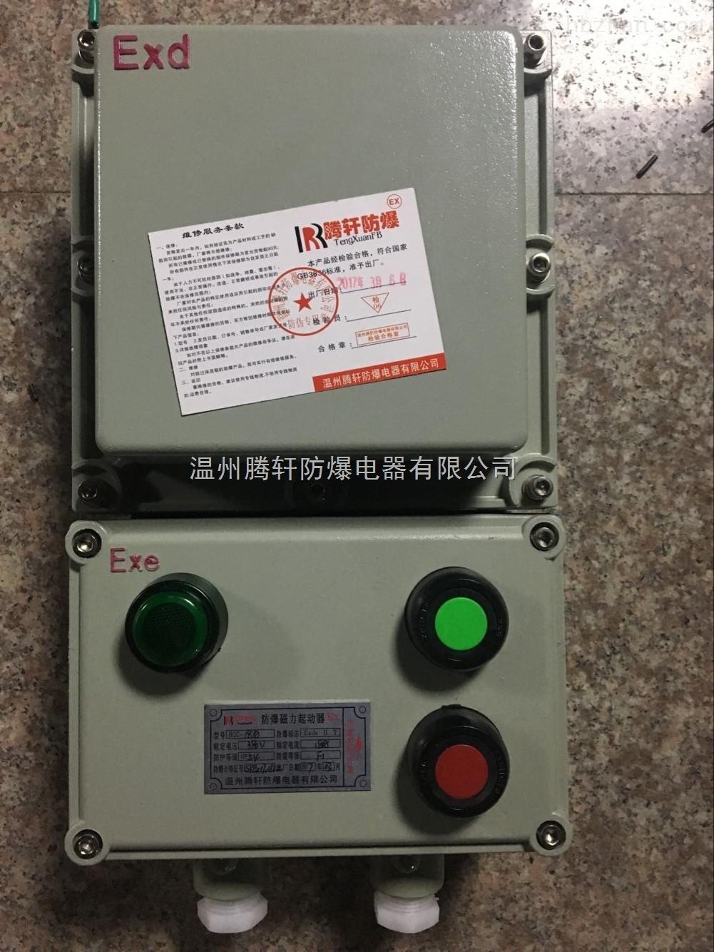 远程控制电机正反转防爆磁力启动器