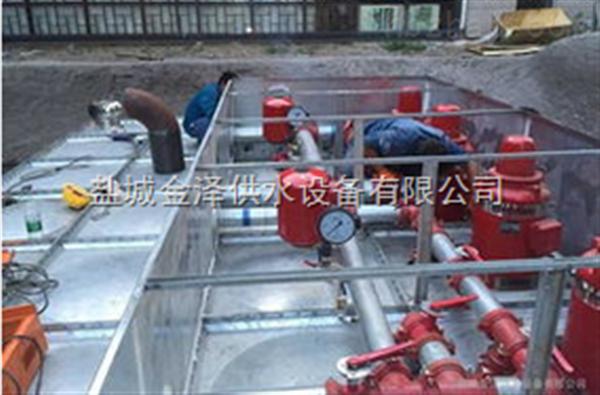 新疆和田埋地式箱泵一体化消火栓喷淋泵站