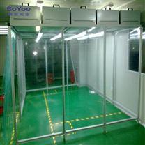 不锈钢洁净棚定做无尘室FFU洁净棚可移动空气净化成套设备