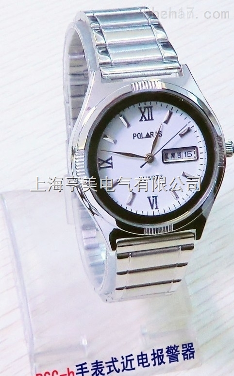 BSG-B电工手表式近电报警器 女式白面带日历手表