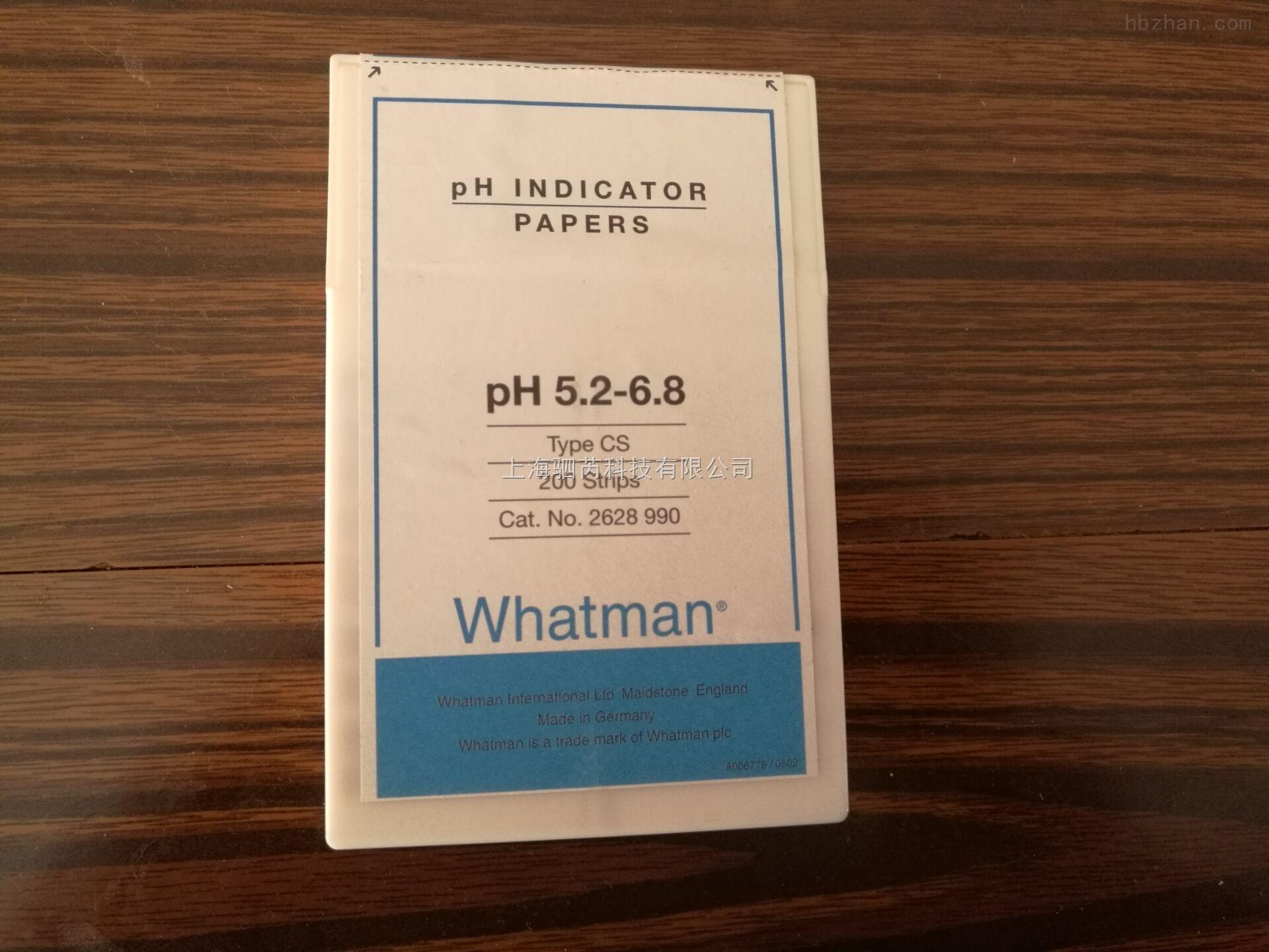 GE Whatman 沃特曼 CS型条状PH试纸 5.2-6.8