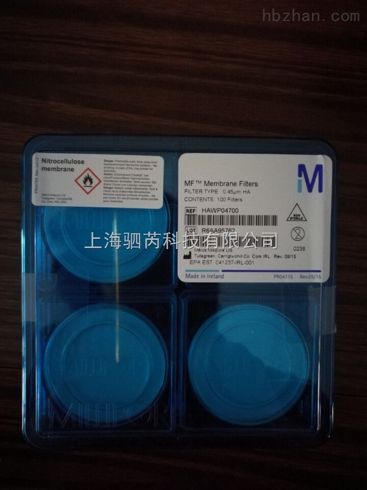 Millipore表面滤膜,混合纤维素酯 HAWP04700