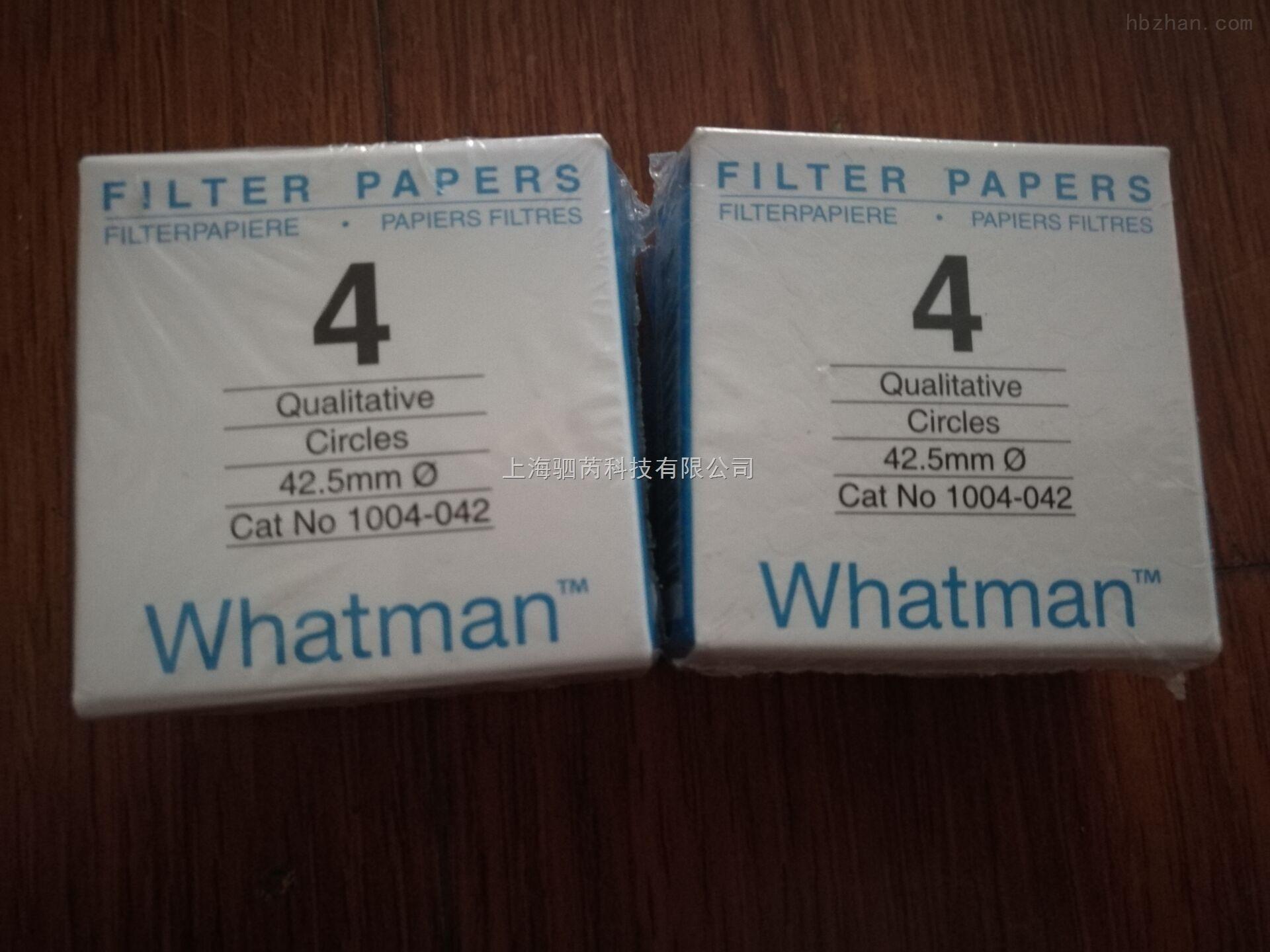 WHATMAN whatman定性快速滤纸4号滤纸1004-042