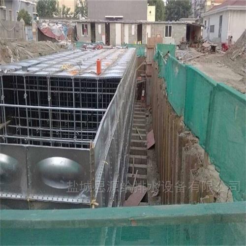 地埋式箱泵一体化基础的安装施工方法是这样