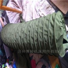 风机排风用耐磨帆布伸缩风筒生产