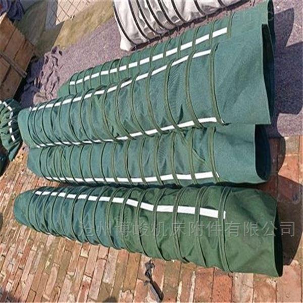 散装水泥颗粒输送耐磨损帆布伸缩袋