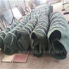 帆布双层吊环水泥卸料伸缩布袋厂家