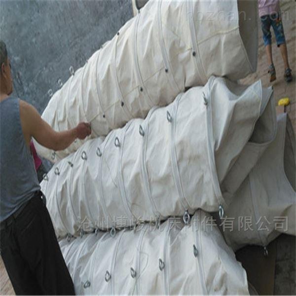 煤灰颗粒输送耐磨损帆布伸缩袋 定做