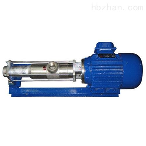 微型直联无极调速丝口螺杆泵