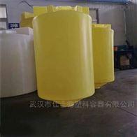 黄石1吨平底防腐加药桶配计量泵带搅拌价格