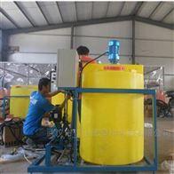 湖南浏阳1500L耐酸碱药剂罐带搅拌机计量泵