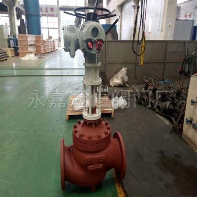 南宁DN350高温单座调节阀电动阀门
