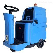 充电驾驶式自动洗地机刷地喷水吸干同步完成