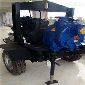 2轮拖车移动式无堵塞柴油机自吸泵