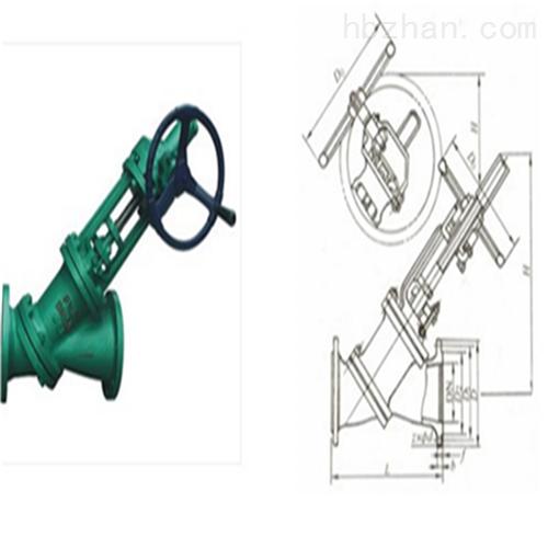 伞齿轮Y型料浆阀