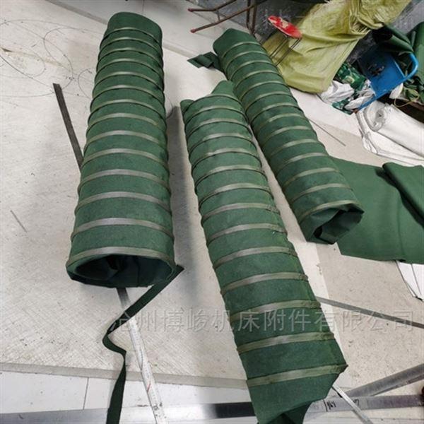 耐高温除尘通风防腐蚀帆布伸缩袋价格