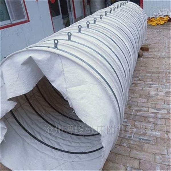 煤灰除尘帆布伸缩布袋散装机卸料帆布袋