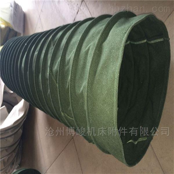 河北水泥收尘通风帆布伸缩布袋厂家生产