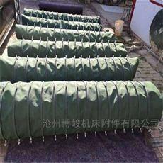防尘伸缩帆布耐高温通风布袋定做