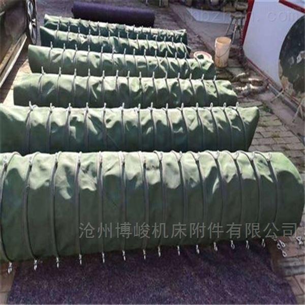 河北水泥散装颗粒输送帆布耐磨卸料伸缩布袋