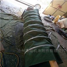 扁钢吊环帆布卸料防尘伸缩布袋生产