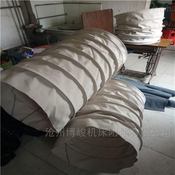 军绿色帆布水泥卸料散装输送伸缩布袋