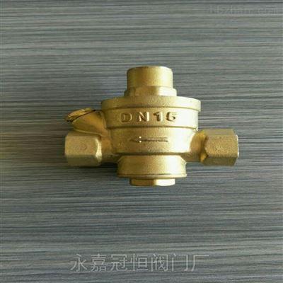 贵州DN20 YZ11X-10T黄铜丝扣减压阀减压阀系列阀门