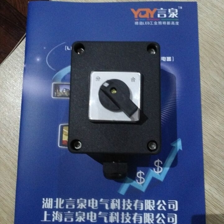 250V10A防水防尘防腐密闭旋钮式电源开关盒
