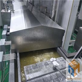 SPYZ-5000供应自动刮渣的带鱼段全自动上粉油炸线