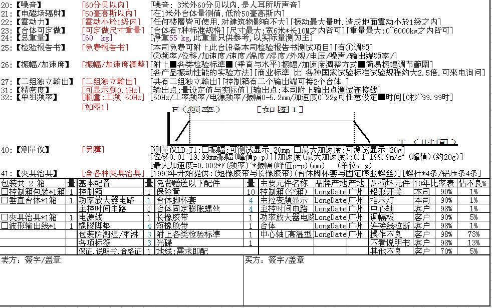 ld-50l 【正弦波 工频50hz】垂直(y轴上下)吸合电磁式振动台