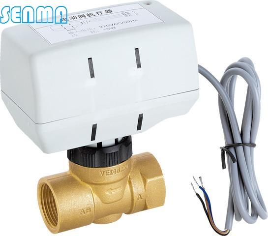 室温始终在温控器设定的温度范围内此系列电动阀有常闭二通和三通两种
