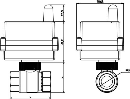 阀门接线用压:adc12v/adc24v