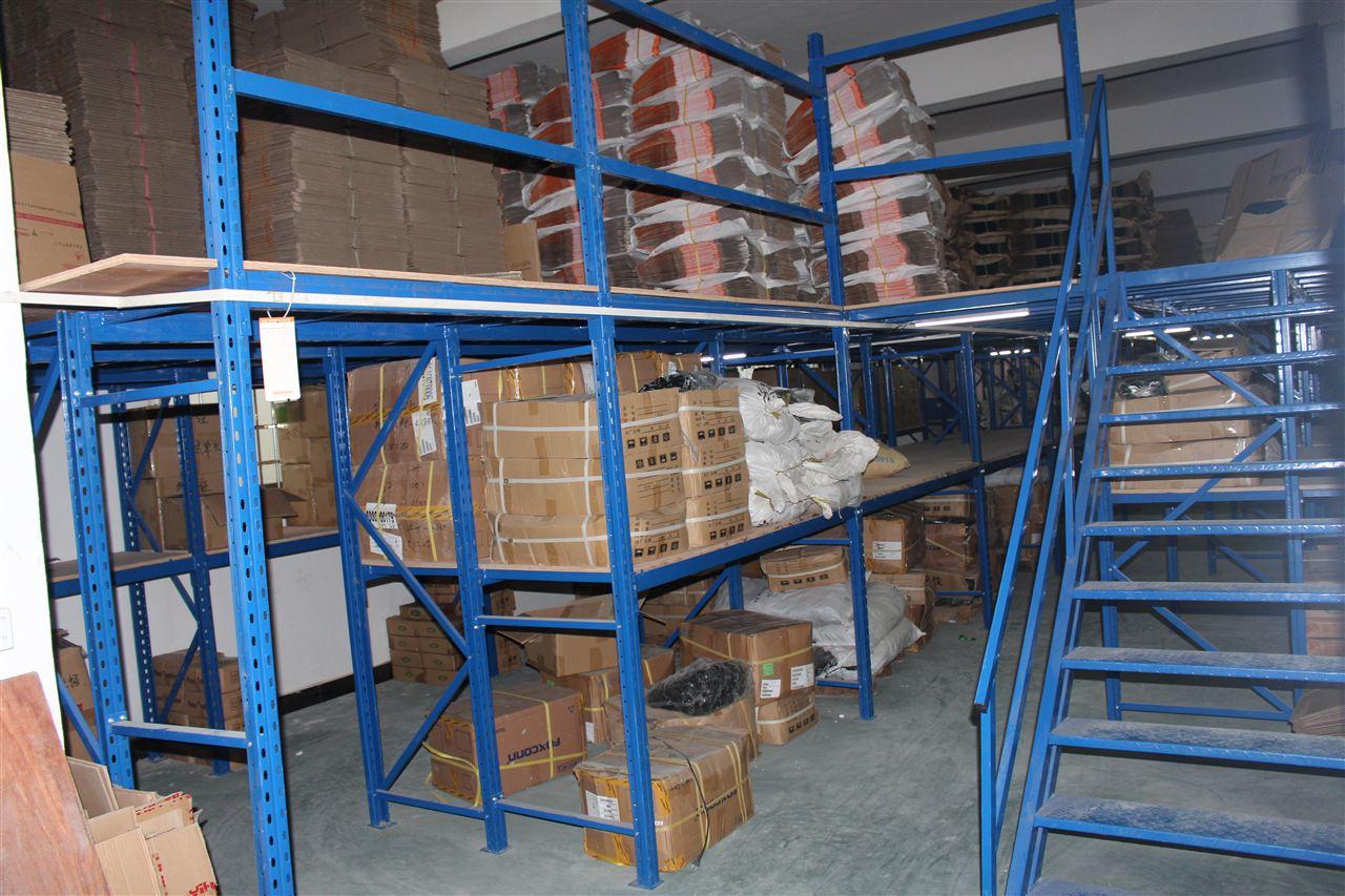 阁楼货架系统是在已有的工作场地或货架上建一个中间