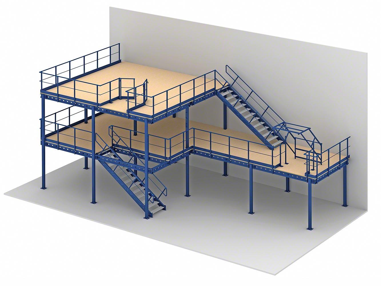 楼面板通常选用冷轧型钢楼板,花纹钢楼板或钢格栅楼板.
