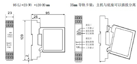 现场干扰及信号转换传输及匹配问题,该隔离器需要独立的直流电源供电