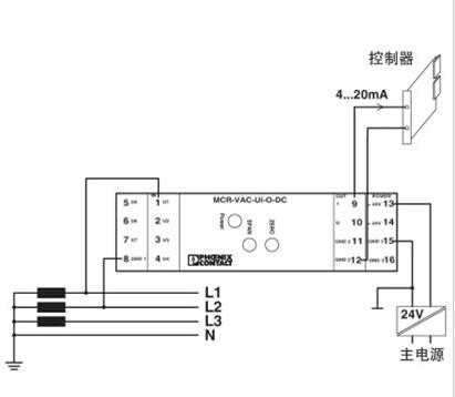 菲尼克斯电压测量变送器,mcr-vac-ui-o-dc产品图纸