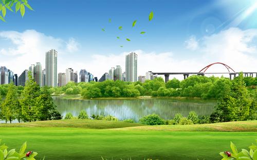 绿色社区封面素材