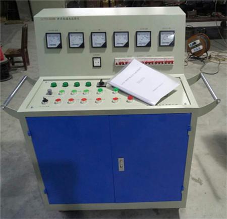 检查并确认接线无误 将 电源开关 闭合 缓慢调节 输出调节 旋扭,将