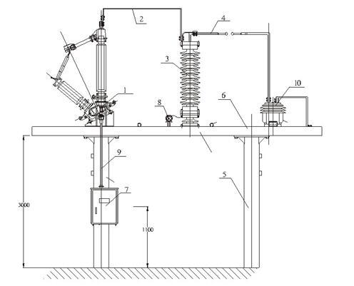 bg-bzj-110/220变压器中性点成套设备外形结构安装图